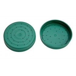 Plastic cap with holes to feeding