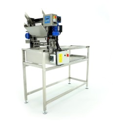Automatic feed uncapping machine, 230V, with electrically heated knives