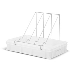 Plastic uncapping tray with plastic strainer (H - 100mm)