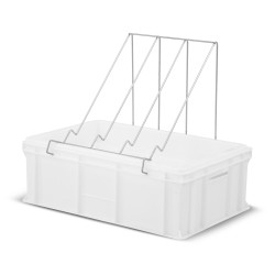 Plastic uncapping tray with plastic strainer (H -200mm)