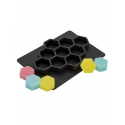 Mold for 13 soaps- small hexagons