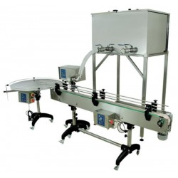 Dual chamber heated tank for automatic bottling line - 300 L