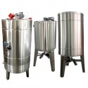 Stainless steel tank 2000 l, with stirrer