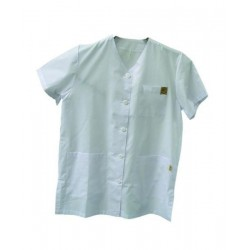 White beekeeper`s  apron, short