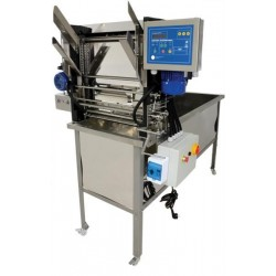 Automatic feed uncapping machine, 230 V, with uncapping tank, heated knives