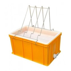 Plastic uncapping tray with plastic strainer (H - 300mm)