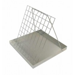 Uncapping tray, zinc (42×42×4 cm)